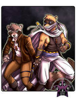 Racoon and Ferret Commission by lady-cybercat
