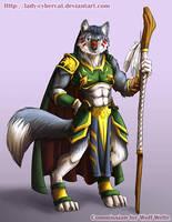 Digital Wolf Commission by lady-cybercat