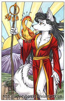 Japan Relief Colored Kitsune by lady-cybercat