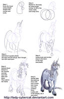 How to Draw a Unicorn  Tutorial 2 by lady-cybercat