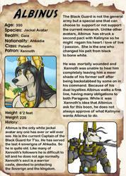 Char Bio: Albinus by lady-cybercat