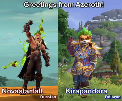 Greetings from Azeroth! by lady-cybercat