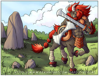 Red  Lynel for Anubiis by lady-cybercat