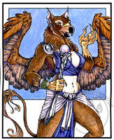 Griffin Sorceress by lady-cybercat