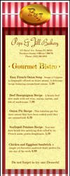 P and J Bistro Menu by ReallyLive