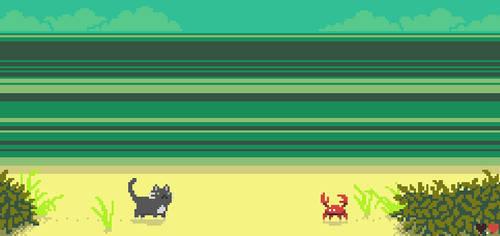 Cat vs. Crab by purpleh3art