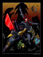 Classics Dinobots v. Trypticon by MattDrawsRobots