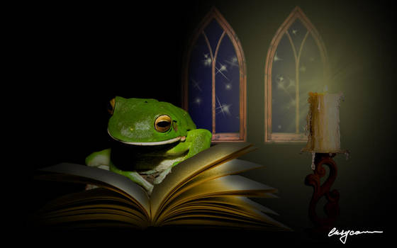 Studious Frog by EasyCom