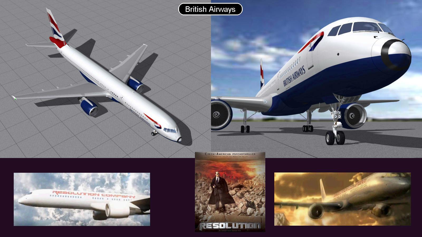 Boeing 757 British Airways  by iconkid