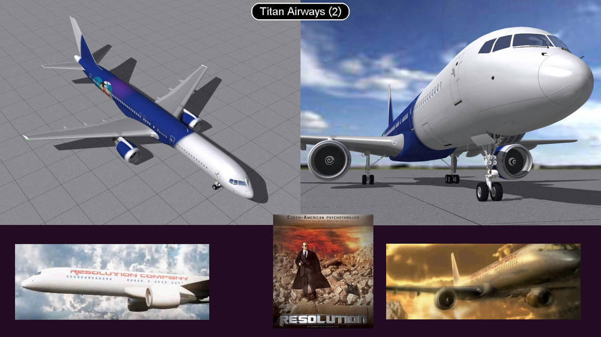 Boeing 757 Titan Airlines 2  by iconkid