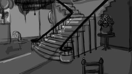 7DCG- Appartment Lobby CONCEPT ART by Loveshot36