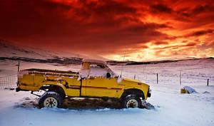 Iceland - RED sky by PatiMakowska
