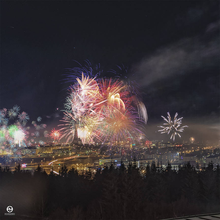 Reykjavik in New Year Eve 2019 by PatiMakowska