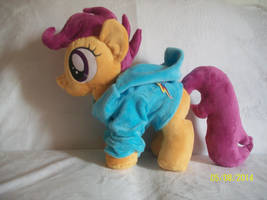 Scootaloo Plush with Rainbow Dash Hoodie ! by SiamchuchusPlushies
