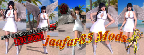 DOA5LR: Nyotengu Wedding Dress By (jaafar85 Mods) by jaafar2009