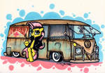Rockabilly Fluttershy by Sketchywolf-13