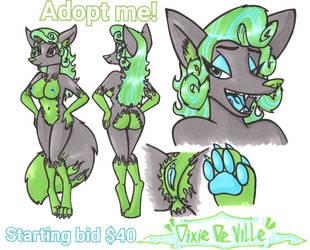 Dixie De Ville Adopt by Sketchywolf-13