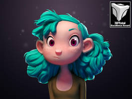 Turquoise Haired Girl by TheRedBarn