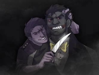 Nightmare and Purple Guy by NEOmi-triX
