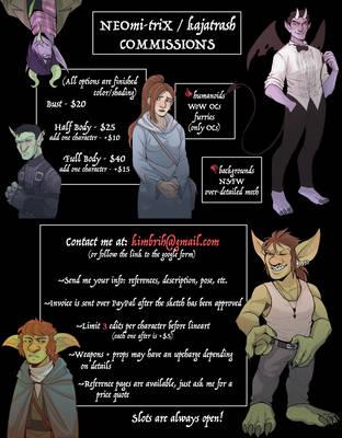 Commission Info by NEOmi-triX