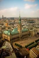 Hamburg from above by navamalika