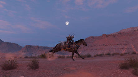 In the Desert on a Horse with No Name by LoneGunMenWander