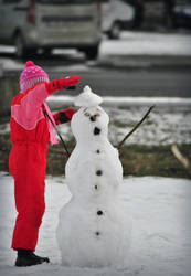 Funny snowman by Dianisiss