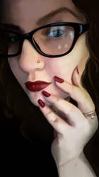 I Got A Cintiq 13HD Selfie May 2016 by missimoinsane