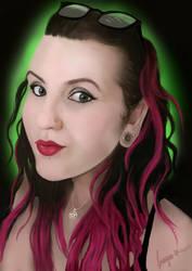 Digital Selfie Painting Aug 2016 by missimoinsane