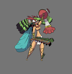 Eagle Warrior Girl by Verminohz
