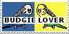 Budgie Lover Stamp by PeregrineFalconLady