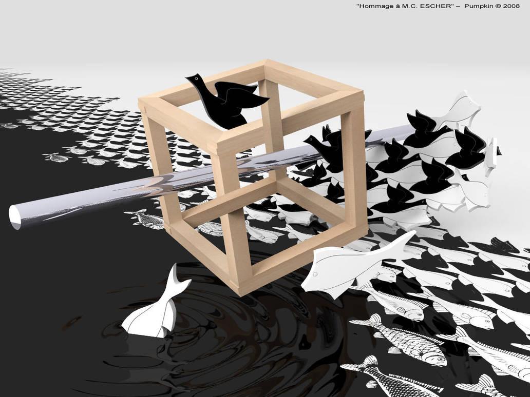 Tribute to M.C.Escher by pumpkinman68