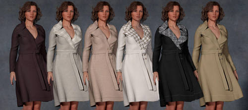 6 TEXTURES FOR G2F SINFUL NIGHT TRENCH COAT by pumpkinman68