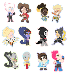 Overwatch charms/stickers - Batch 1 by HeeeeresIzzy