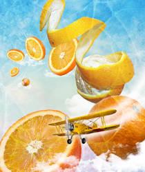 Flight over orangesky by Leviatha87