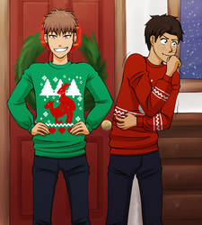 Jean and Marco sweaters by izumichan37