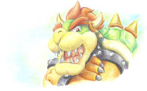 Pencil color Bowser by kittikary