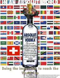 Absolut World Cup advertising by ElizabethKissable