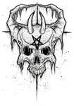Demon Skull 2015 White by ayillustrations