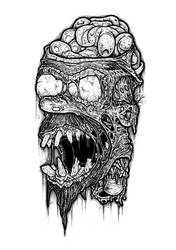 Homer Simpson zombie by ayillustrations