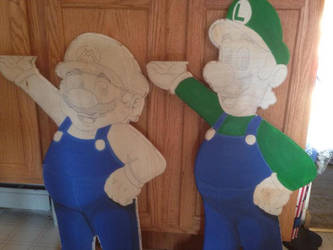 Mario and Luigi progress 1 by ChupaCabraThing