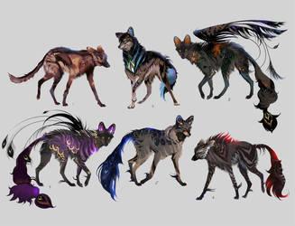 Open! (1/6) Maned Wolfpack Adopts 16 by Furrirama