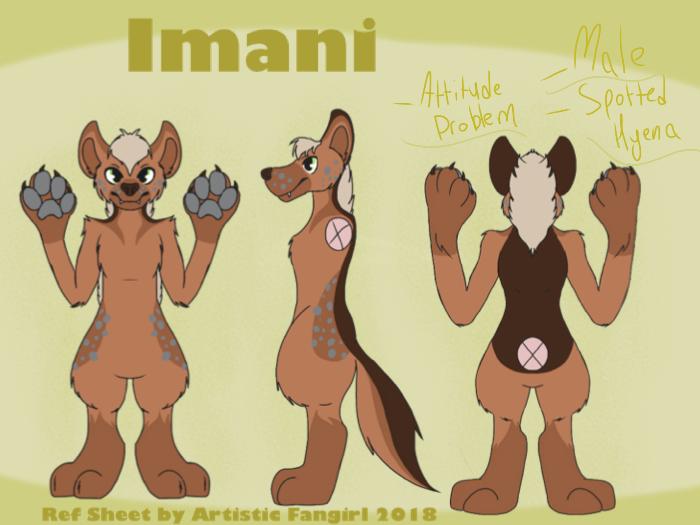 Imani the Hyena Reference Sheet by ArtisticFangirl7
