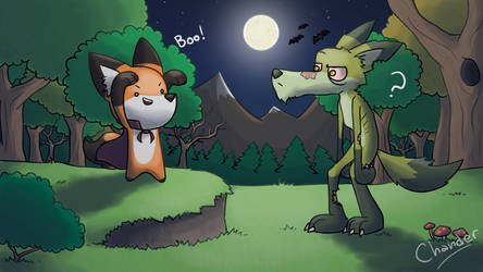 Spooky Fox - Entry by Chander-Fox
