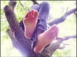 Soles Dangling by Foxy-Feet