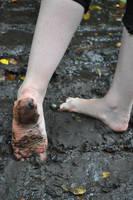 Muddy Little Foot by Foxy-Feet