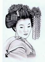 Geisha Girl by AZIZA-FEMI