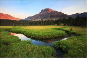 Ostler Peak Sunset by tourofnature