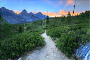 Grand Tetons in August by tourofnature
