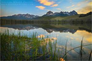Little Redfish Lake Reflections by tourofnature